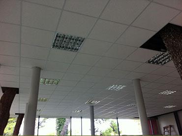 οροφή ορυκτής ίνας στο κυλικείο του νοσοκομείου Γεννήματα.