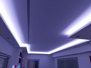 Σχέδιο κρυφού φωτισμού σε οικία στο Νέο Ηράκλειο