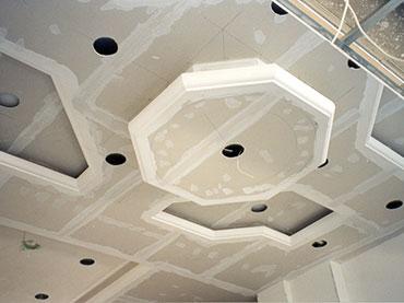 οκτάγωνο σχέδιο οροφής και ασυμμετρες εσοχές