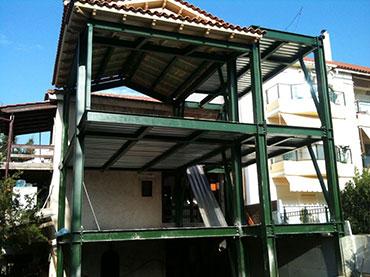 Οικία στον Γέρακα όπου κατασκευάστηκε όλη με τσιμεντοσανιδες