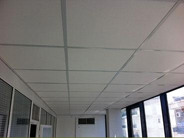 οροφή ορυκτής ίνας σε γραφεία στην Αθηνα