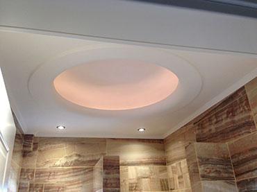Οροφή με θόλο σε μπάνιο σε οικία στήν Βάρκίζα.
