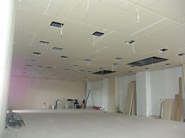 οροφή σε επαγγελματικό χώρο.