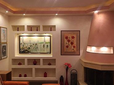 Σύνθεση με γυψοσανίδα σε οικία στο Νέο Φάληρο.