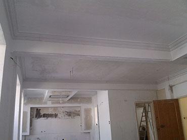 Γύψινα και οροφές σε οικία στην περιοχή  Φιλοπάππου