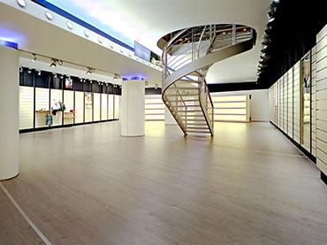 οροφή με γυψοσανίδα σε κατάστημα Allouette