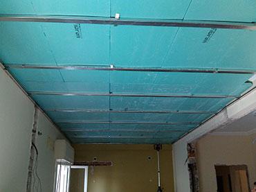 Οροφή με θερμομονωση σε μονοκατοικια στην Νεα Σμυρνη