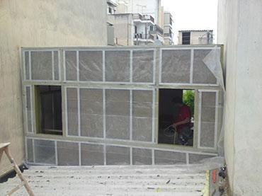 Βιοτεχνια στην Νέα Ιωνία που κατασκευάστηκε με τσιμεντοσανιδες