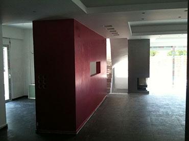 τοίχος γυψοσανίδας με εσοχή