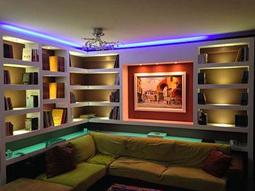 Σύνθεση  με φωτισμό σε οικία στην Νέα Σμύρνη .