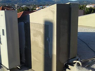 κατασκευή κουτιού για μηχανισμό ασανσέρ με τσιμεντοσανιδα