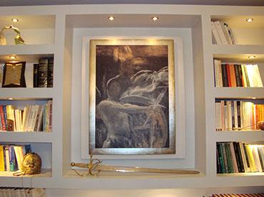 κατασκευή βιβλιοθήκης σε οικία στην Παλλήνη