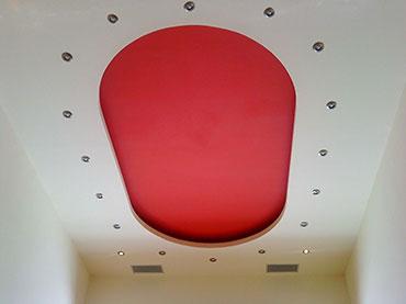 οροφή με οβάλ σχέδια κρυφού φωτισμού