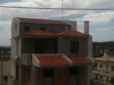 θερμοπροσοψη knauf σε οικία στην Λούτσα