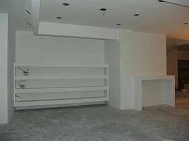 οροφή τοιχίο ραφιέρα με γυψοσανίδα